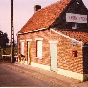 Carina Radio. Productieband zomer 1982. Simon, Peter en Barend spreken radiospots en jingles in.