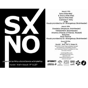 "SXNO ""In Case Ya Don't Know"" Mix :: Mixed Live By Carmine P. Filthy"