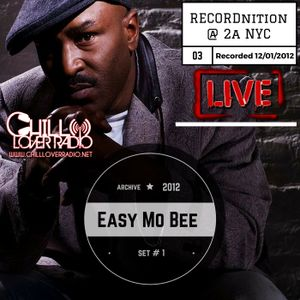 Easy Mo Bee Live Set #1 RECORDnition No.3 @ 2A NYC 12 1 2012