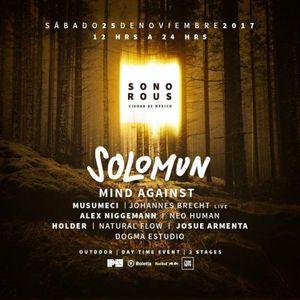 Solomun - Live @ Sonorous Festival, Laberinto Ajusco, México City (2017-11-25)