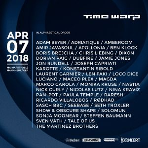 Maceo Plex @ Time Warp 2018, Maimarkthalle, Mannheim - 07 April 2018