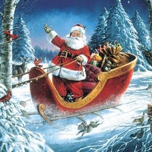 December with Santa Claus