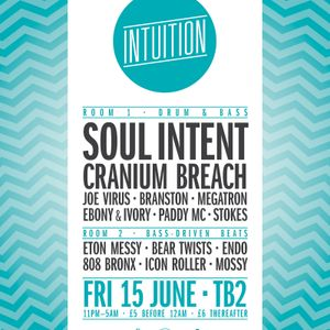 Cranium Breach at Intuition . Timbuk2 . Bristol . 15th June 2012