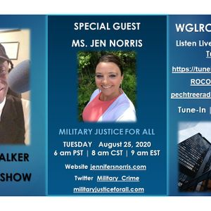 WGLRO Radio welcomes Jen Norris the Donny Walker morning show 8-25 2020 Tuesday