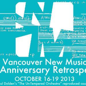 Giorgio Magnanensi & James Rolfe - Van New Music Fest Oct 16, 3013