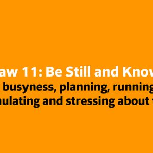 Law 11: Be Still and Know 02.17.18 Baptiste Power Yoga