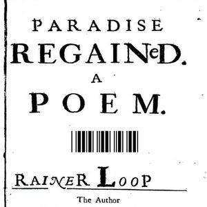 rainer loop - paradise regained - poem 1