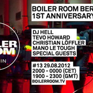 DJ Hell at Boiler Room - Berlin [August 29, 2012]