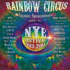 "Feisty - NYE 13 Tropical Fruits ""Rainbow Circus"" Lismore"