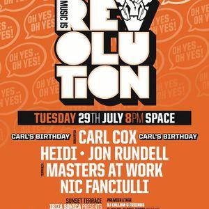 Jon Rundell - Live @ Music Is Revolution Carl Cox Birthday Party Space Ibiza (Spain) 2014.07.29.