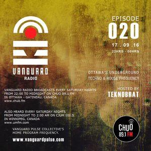 VANGUARD RADIO Episode 020 with TEKNOBRAT - 2016-09-17th CHUO 89.1 FM Ottawa, CANADA