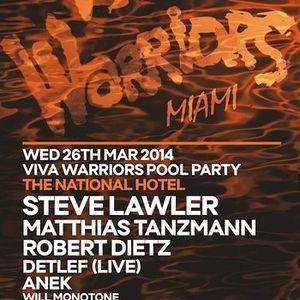 Steve Lawler - Live @ Viva Warriors Pool Party, WMC 2014, Miami, E.U.A. (26.03.2014)