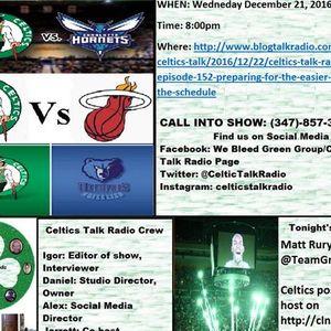 Celtics Talk Radio Episode 152 PREPARING FOR THE EASIER PART OF THE SCHEDULE