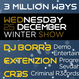 01 - DJ BORRA - 3 Million Ways 050 [ 25-dec-2013 ]