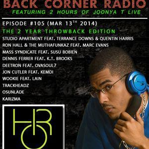 BACK CORNER RADIO: Episode #105 [2 Year Anniversary] (Mar 13th 2014)