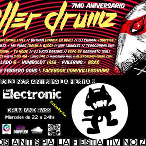 Electronic 12/2/2014 Programa n#39   Especial 7 años killer Drum!! Tv Noize nos Anticipa la fiesta