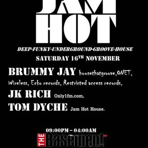 JAM HOT Mix by Tom Dyche @ The Basement Stoke - Saturday 16th November