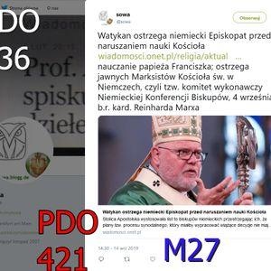 Na Marksistow Kosciola w Niemczech M27 Na Chodakiewicza w klimacie Glinskiego ZR PDO636 PDO421