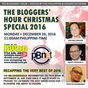Bloggers' Hour Christmas Special 2016 - A recap of our episodes since September 26th of 2016