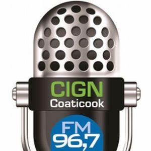 Dj Franky Jay on CIGN 96,7 fm radio 15/01/2013