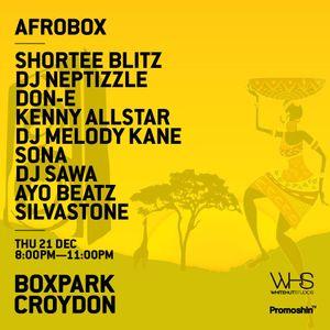Afrobox at @BoxParkCroydon by @SILVASTONEBEATS x @MOSESMIDAS December 21st 2017