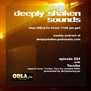 Tornike Guest mix @ DEEPLY SHAKEN SOUNDS Radio Show !! http://orla.fm/  UK///Poland
