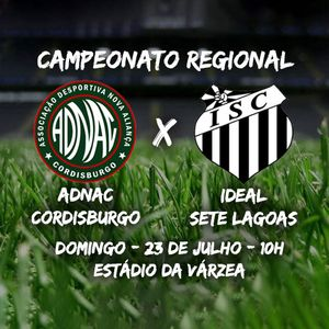 ADNAC Cordisburgo x Ideal Sete Lagoas - Campeonato Regional de Futebol Amador 2017