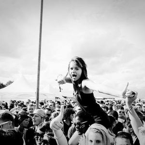 We surf the crowd.