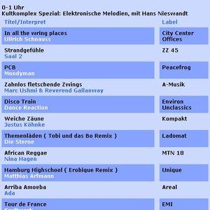 Hans Nieswandt - Elektronische Melodien - 12-6-2003