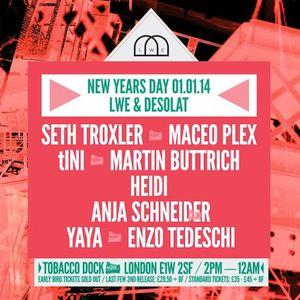 Adam Beyer @ Tobacco Dock London - New Years Day (01-01-14)