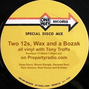 Tony Troffa 11-22-15 Edition of Two 12s, Wax and a Bozak Show