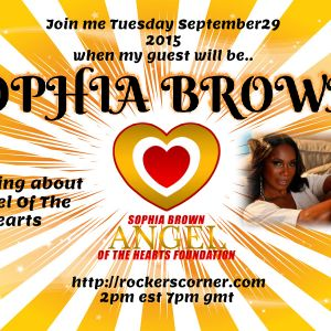 CONVERSATION WITH SOPHIA BROWN SPEAKING ABOUT THE ANGEL OF THE HEARTS FOUNDATION