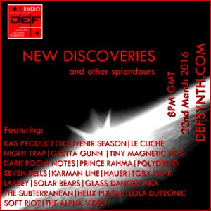 Doncaster Electronic Foundation Radio - New Discoveries and Other Splendours 22nd March 2016