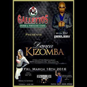 DJ Peejay - Dança Kizomba Party Live @ Gallettos Orlando, FL (3-18-2016)