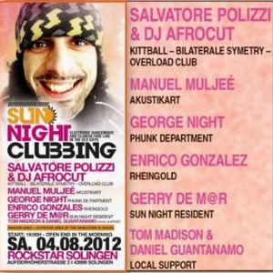 Gerry de M@r_Sun Night Clubbing Part 5_Warm Up Set_02.08.2012 Solingen