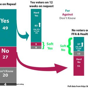 Repealing the 8th - what the opinion polls are telling us - Jan to March