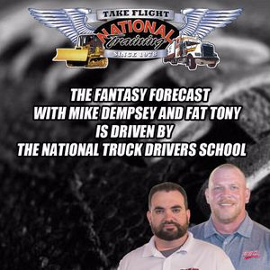 Fantasy Forecast -- 9/22 Week 3 (driven by the National Truck Drivers School)