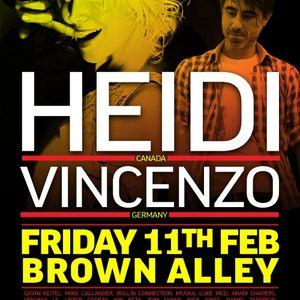 Alam & Dave Juric (b2b) @ Garden Terrace, Brown Alley (Vincenzo & Heidi warmup) - 11 Feb 2011