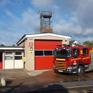 Rod chats with Eddie the Firefighter from Kirton Fire Station
