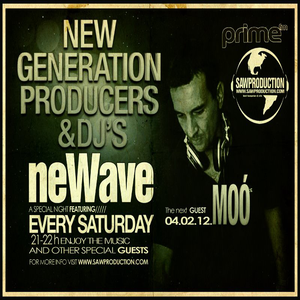 Sawproduction - NeWave: Moó aka. Leslie Moor Live on PrimeFM (2012-02-04)