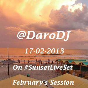 @DaroDJ on #SunsetLiveSet 17-02-2013