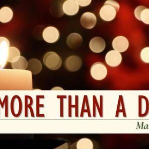 More Than A Dream - Matthew 1:18-25 - Audio