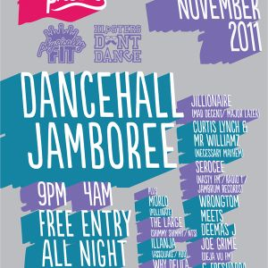 Hipsters Don't Dance mix for BCP Physically Fit and Hipsters Don't Dance's Dancehall Jamboree