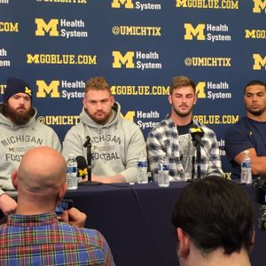 2016 Michigan Football Players Magnuson, Kalis, Butt, Wormley Ohio State Pre Game Press Conference