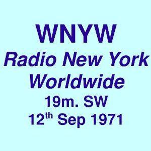 WNYW 19m SW =>> Radio New York Worldwide <<= Sunday, 12th September 1971
