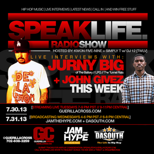 SPEAKLIFE Radio Show: Season 7 Episode 2 – interviews with Jurny Big + John Givez