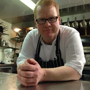 Andrew Dixon head chef and patron from The Cafe at Porlock Weir