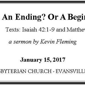 An Ending? Or a Beginning? (Audio)