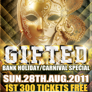 Gifted Bank Holiday/Carnival Special- Room2 Mix CD