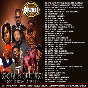 DJ WASS - ROOTS & CULTURE REGGAE MIX VOL 20 APRIL 2017 by Dj wass